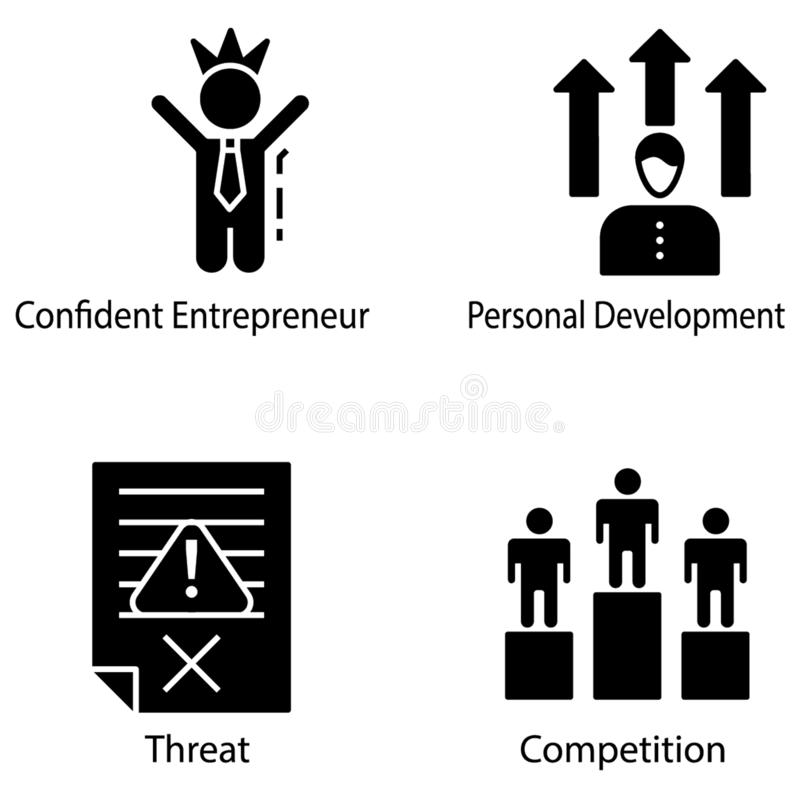 Entrepreneur Icons Collection royalty free illustration