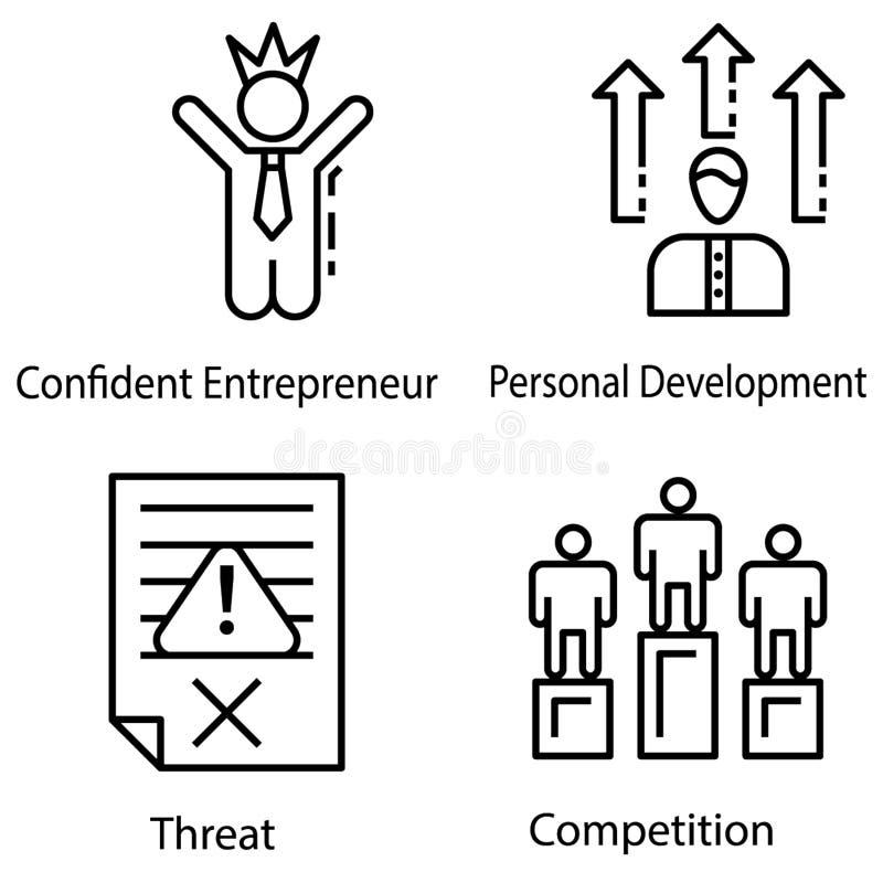 Entrepreneur Icons Collection stock illustration