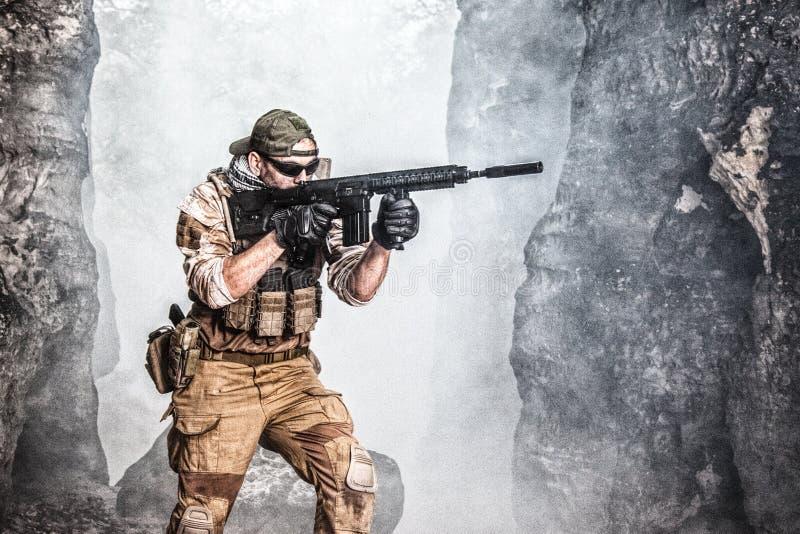 Entrepreneur militaire privé photos stock