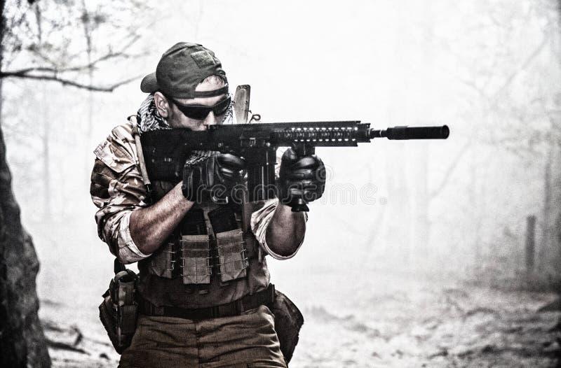 Entrepreneur militaire privé image stock