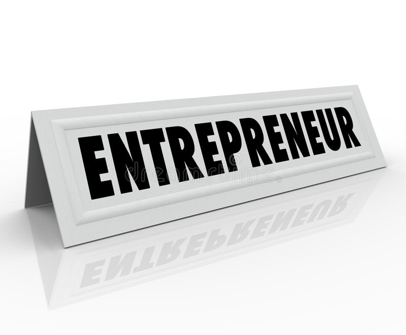 Entrepreneur Name Tent Card Expert Business Stock Illustration ...