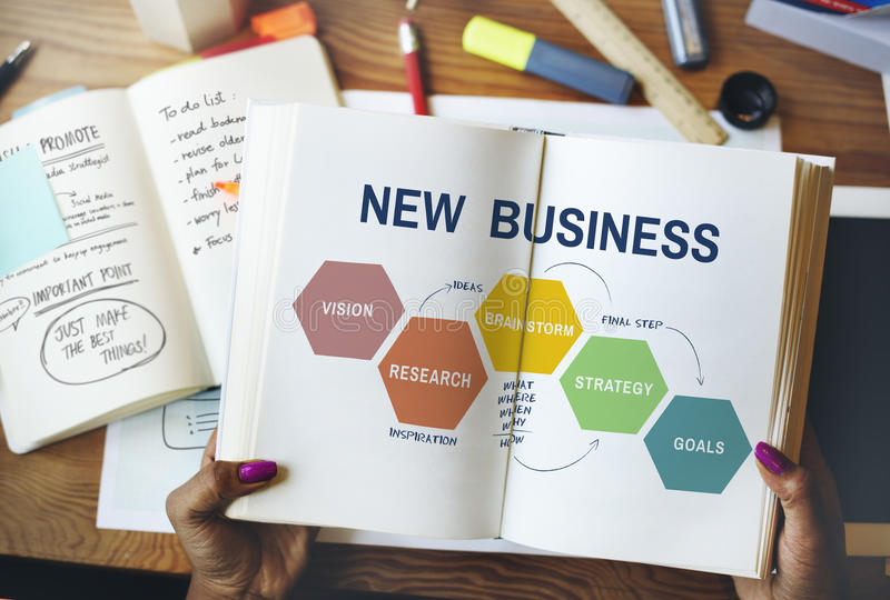 Entrepreneur objectif Concept de nouvelle vision d'affaires images stock
