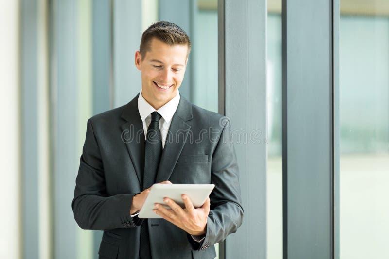Entrepreneur tablet computer stock images