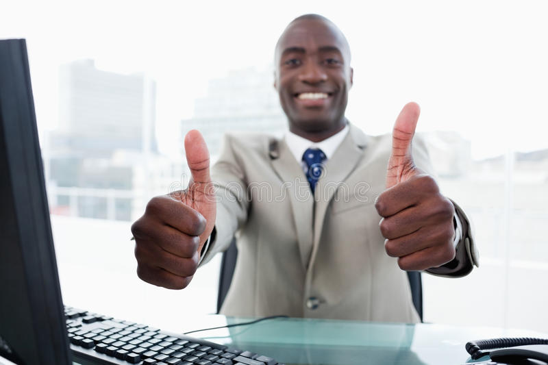 Download Entrepreneur Working With A Computer Stock Image - Image: 22693337