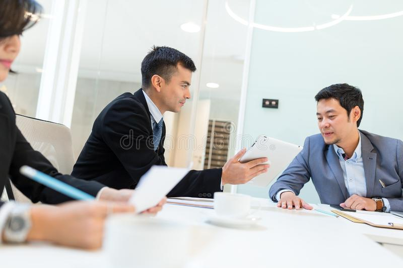 Entrepreneurs and business people conference in meeting room royalty free stock photos