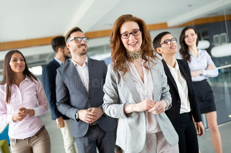 Entrepreneurs and business people conference in modern office royalty free stock image