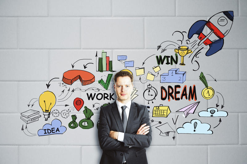 Entrepreneurship concept stock photography