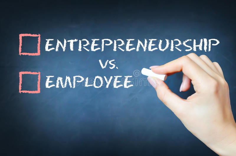 Entrepreneurship versus employee concept royalty free stock photos