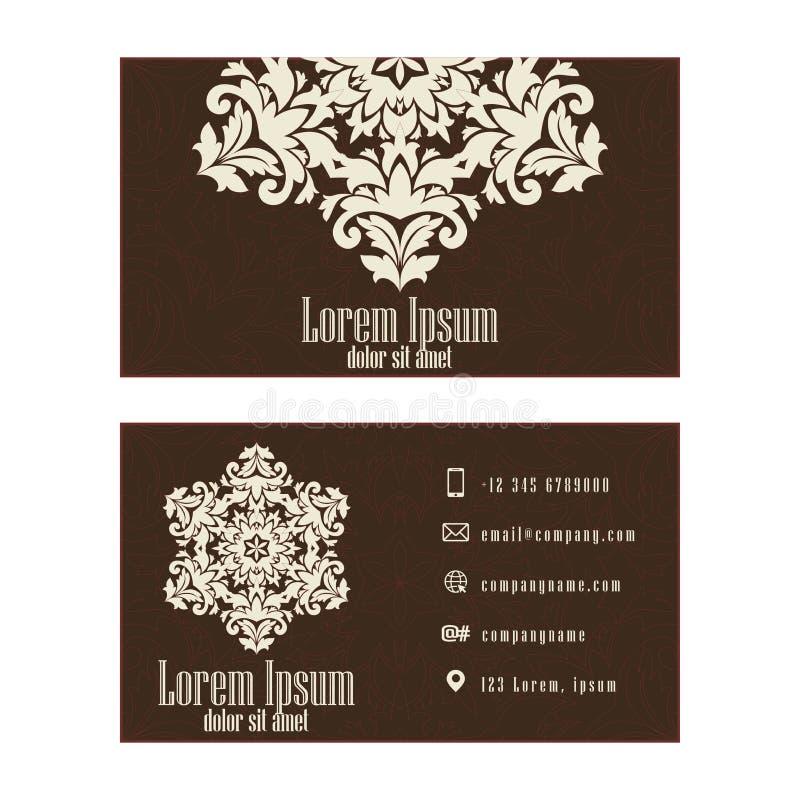 Entreprise constituée en société de Brown ou carte de visite, concepteur professionnel illustration de vecteur