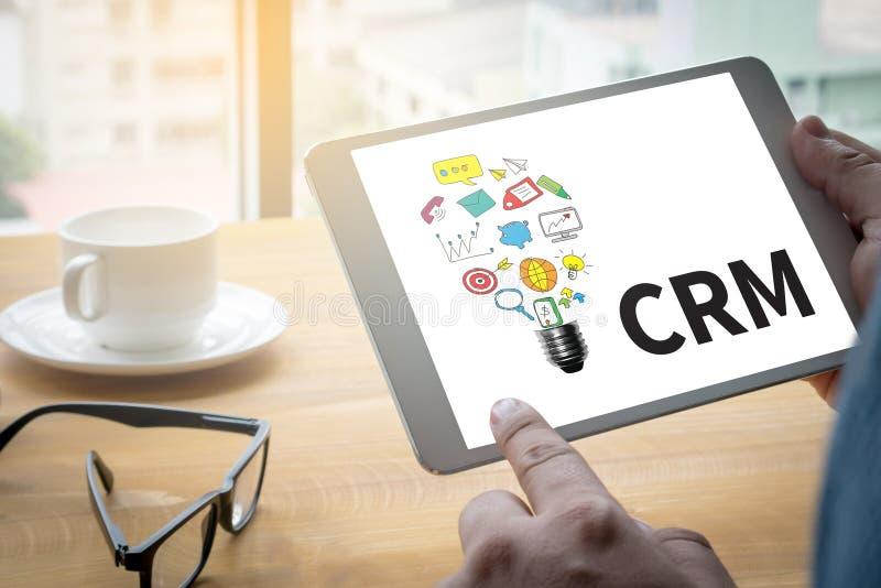 Entreprise de services CRM d'analyse de gestion de CRM de client image stock