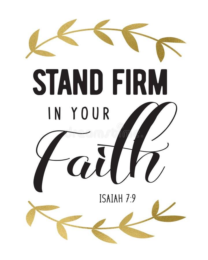 Entreprise de support dans votre foi illustration libre de droits