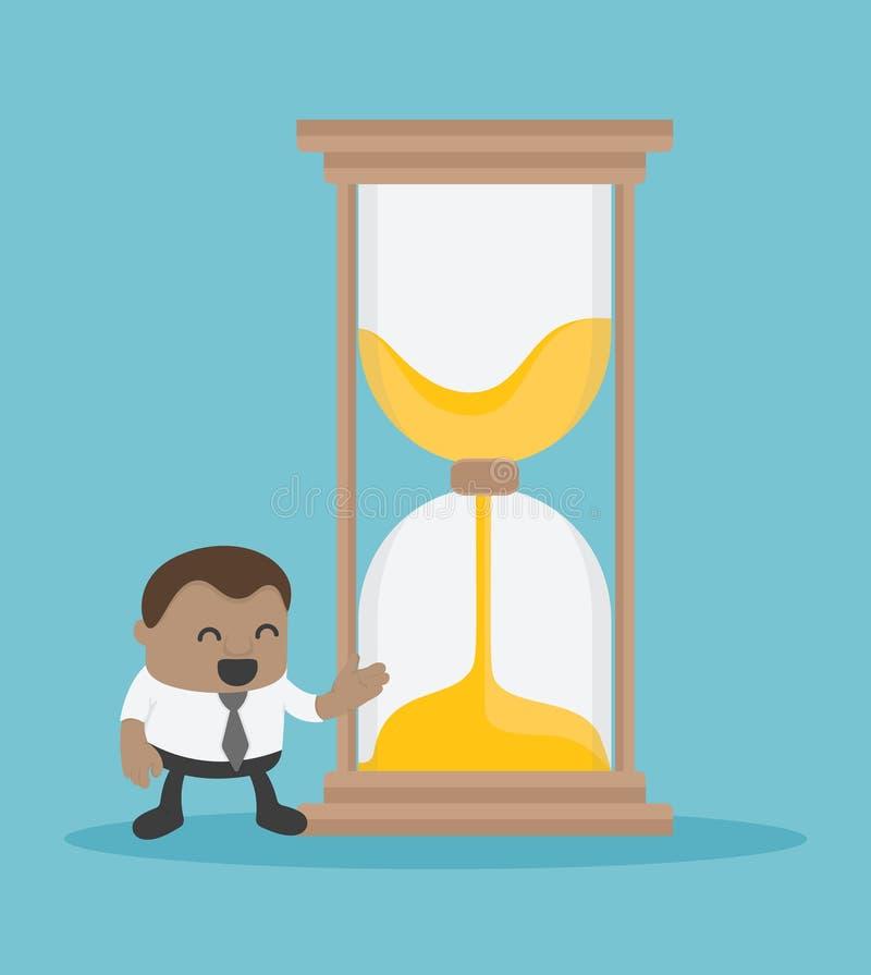 Entreprises africaines offrant le sablier à ceux qui ont besoin de temps illustration libre de droits