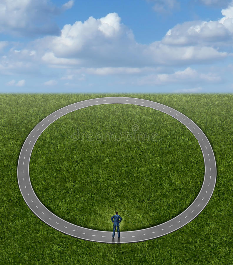 Entrer en cercles illustration de vecteur