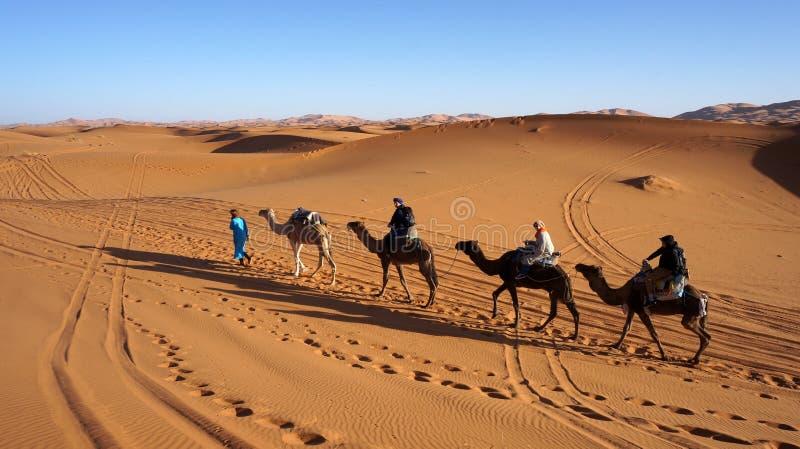 Entrer lent au désert image libre de droits