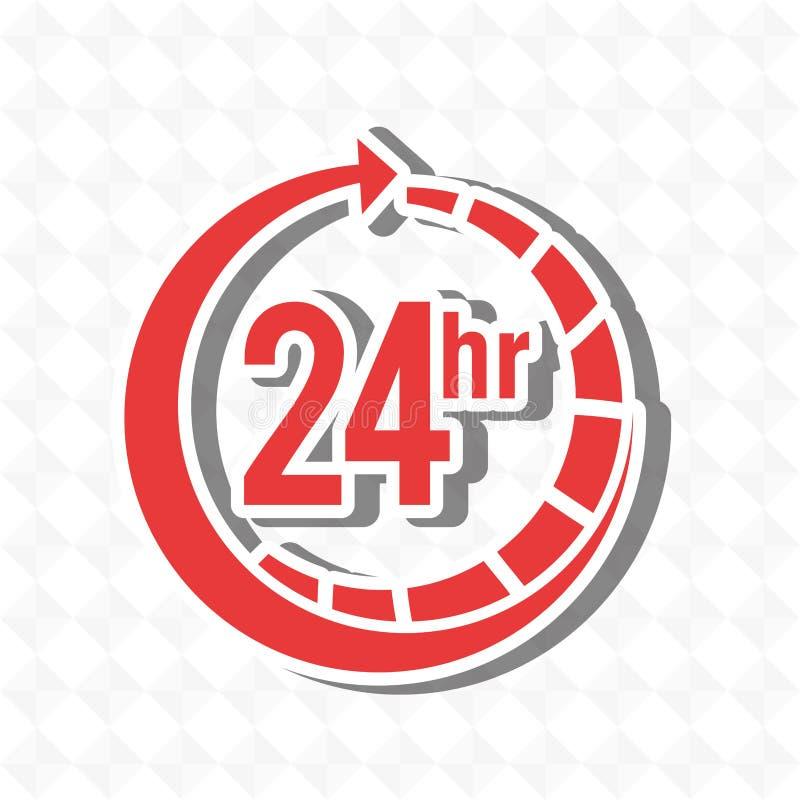 entretenez 24 heures de conception illustration stock