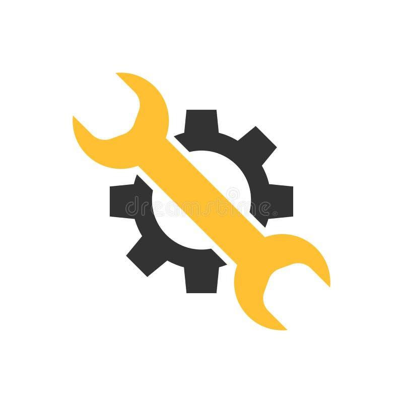 Entretenez l'icône d'outil illustration stock
