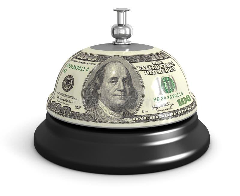 Entretenez la cloche et le dollar illustration de vecteur