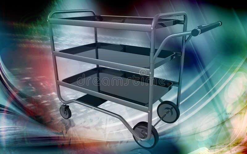 Entretenez le chariot illustration de vecteur
