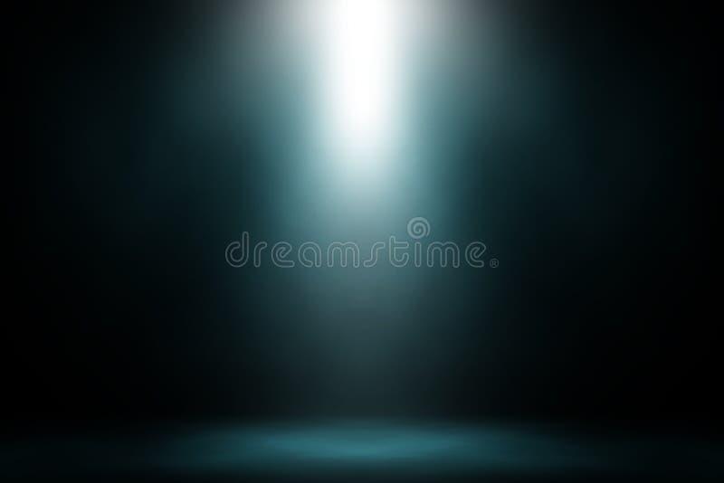 Entretenimento azul abstrato da fase do fumo do projetor ilustração stock