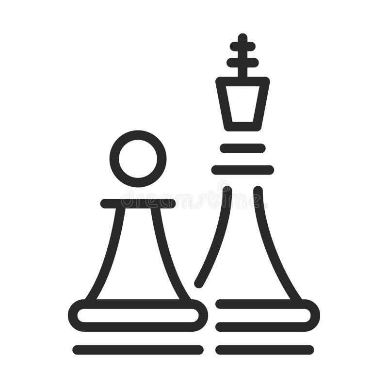 Entretenimiento del ajedrez y sistema de estrategia, icono negro libre illustration