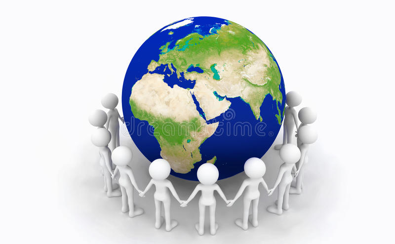 Entretenir la terre illustration libre de droits
