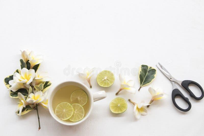 Entretenir sain de heralth de boissons de citron de fines herbes de miel l'angine photographie stock libre de droits