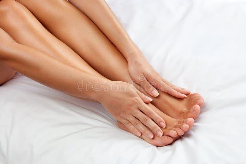 Entretenir vos pieds image stock