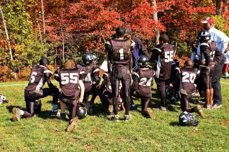 Entretien d'entrain à mi-temps du football - 1 photo libre de droits