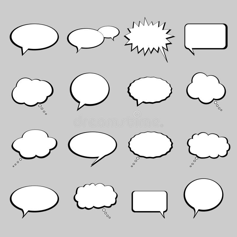Entretien et ballons ou bulles de la parole illustration de vecteur