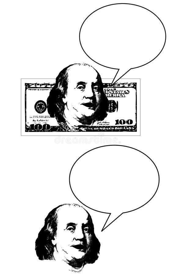 Entretiens d'argent illustration libre de droits