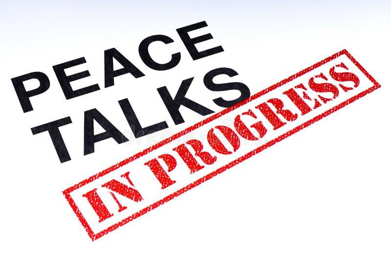 Entretiens de paix en cours illustration de vecteur