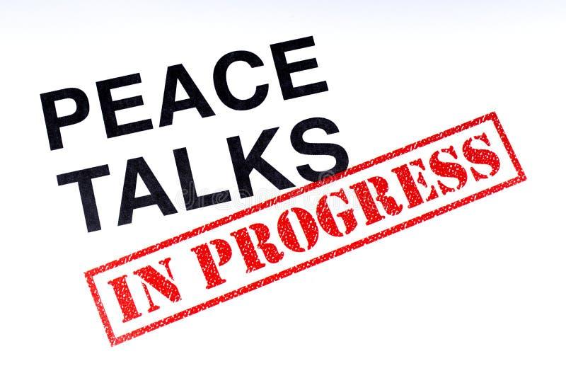 Entretiens de paix en cours illustration libre de droits