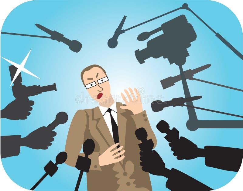 Entrevista ilustração do vetor