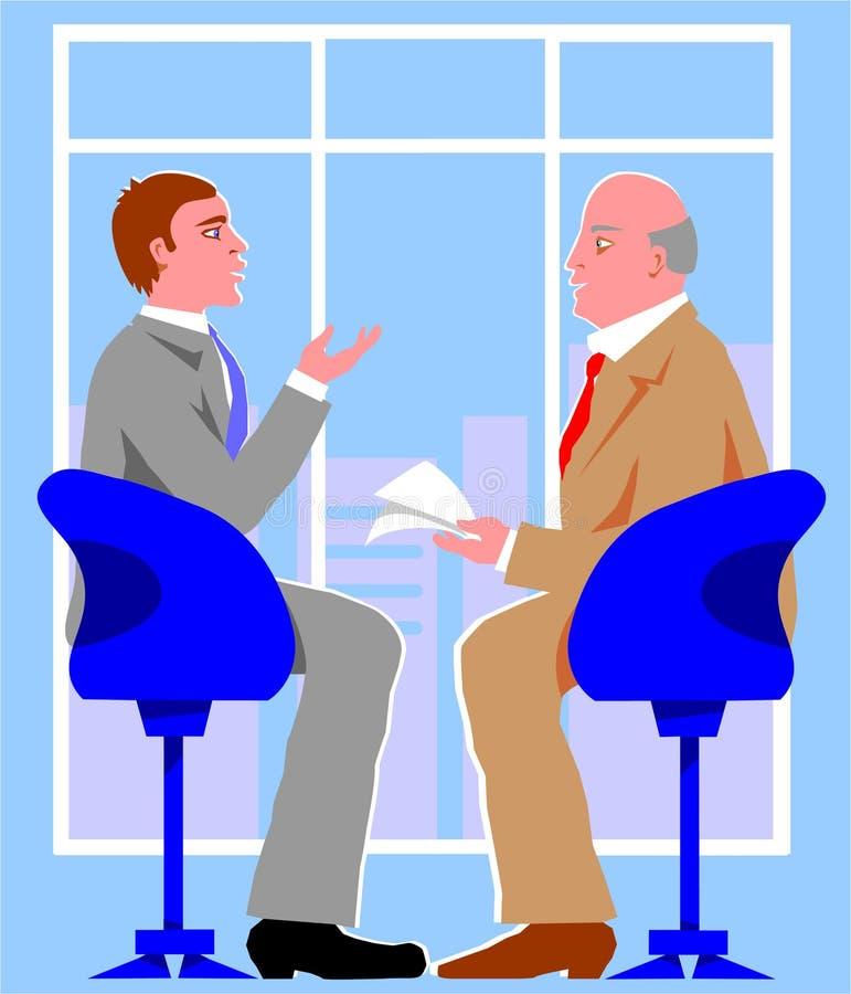 Entrevista ilustração stock