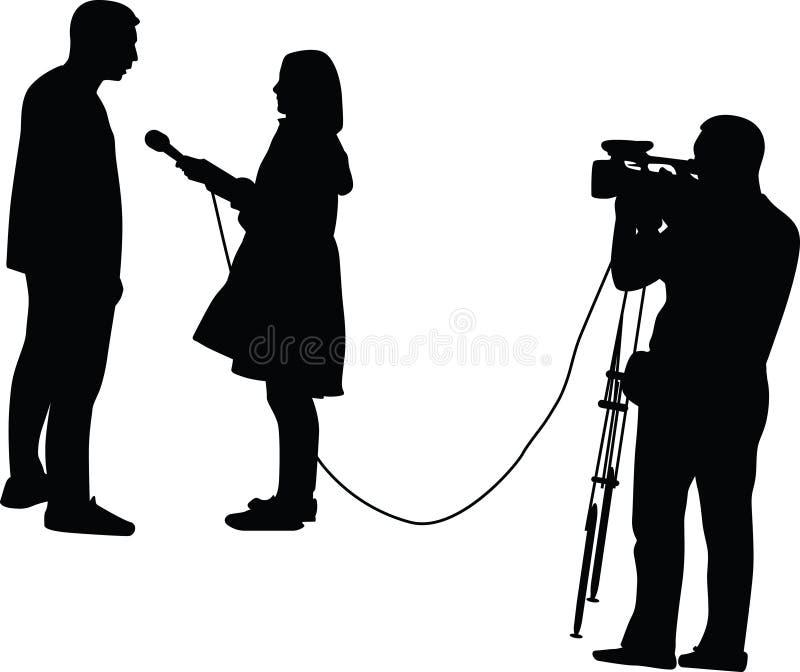 entrevista ilustração royalty free