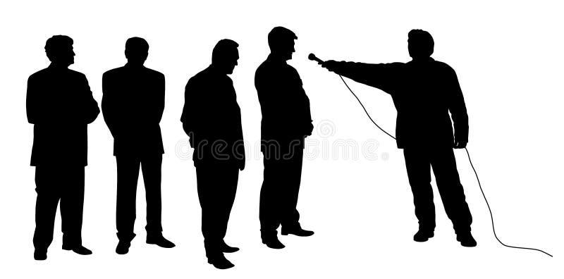 Entrevista com grupo de pessoas ilustração do vetor