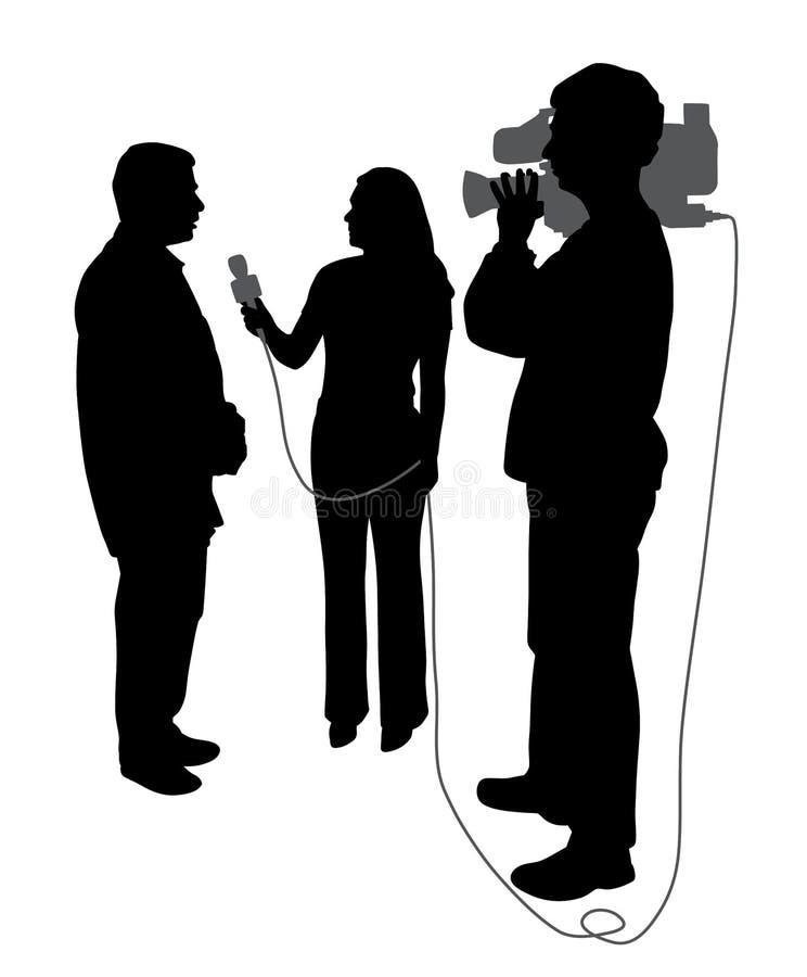 Entrevista com operador cinematográfico ilustração royalty free