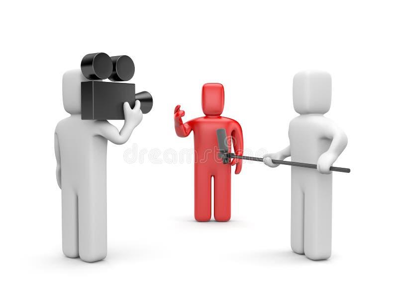 Entrevista com VIP ilustração do vetor