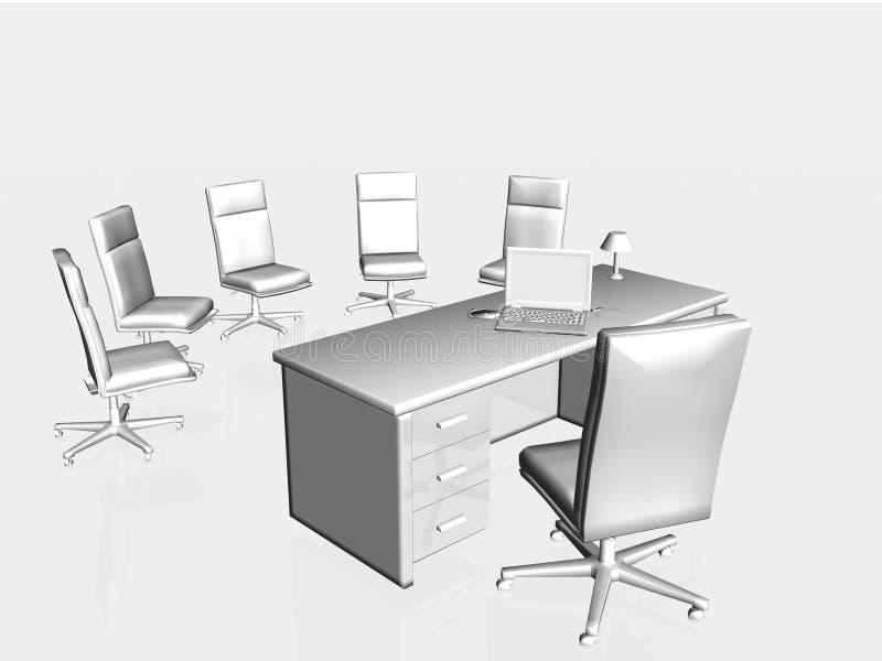 Entrevista de trabajo, aplicación. stock de ilustración