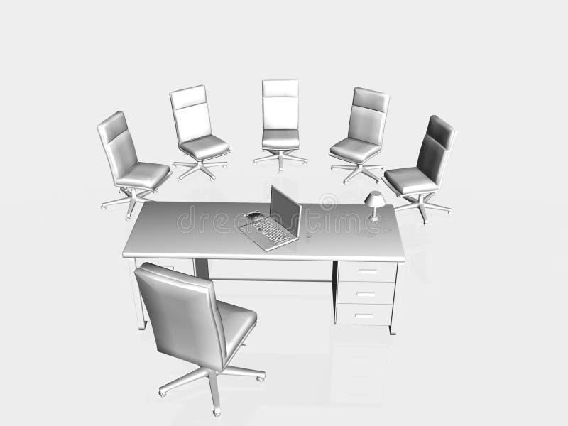 Entrevista de trabajo, aplicación. ilustración del vector