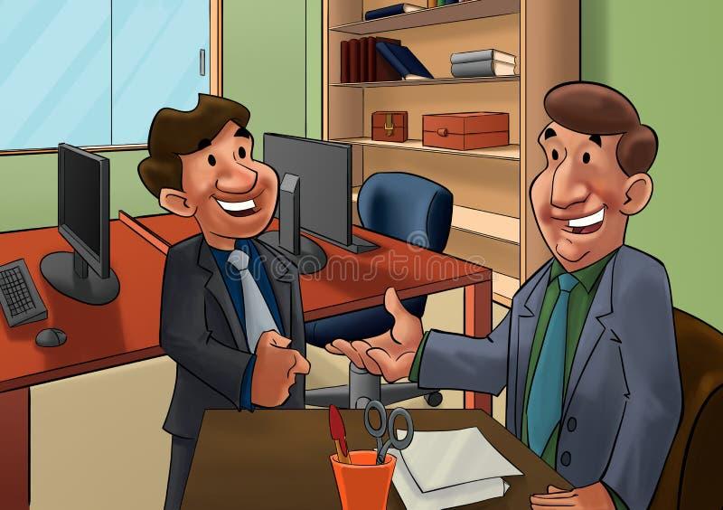 Entrevista de trabalho ilustração do vetor