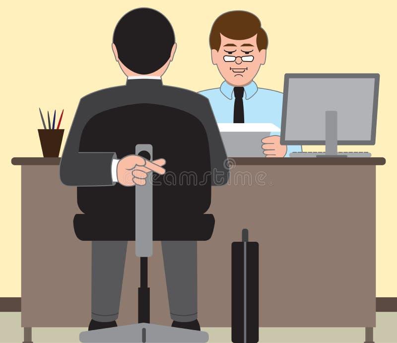 Entrevista de trabalho ilustração royalty free