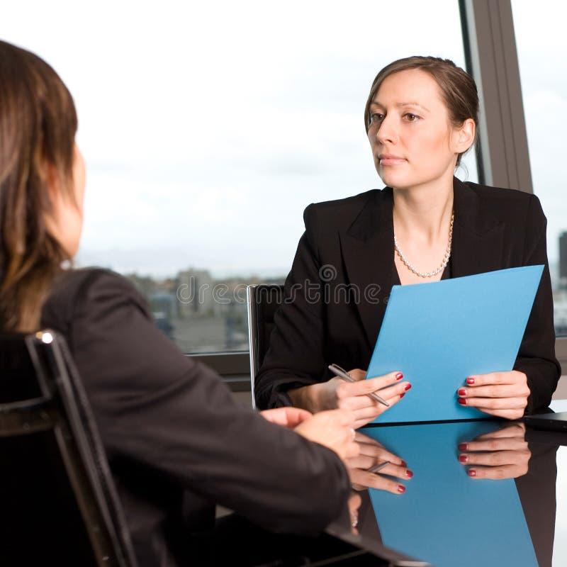 Entrevista de trabalho imagem de stock