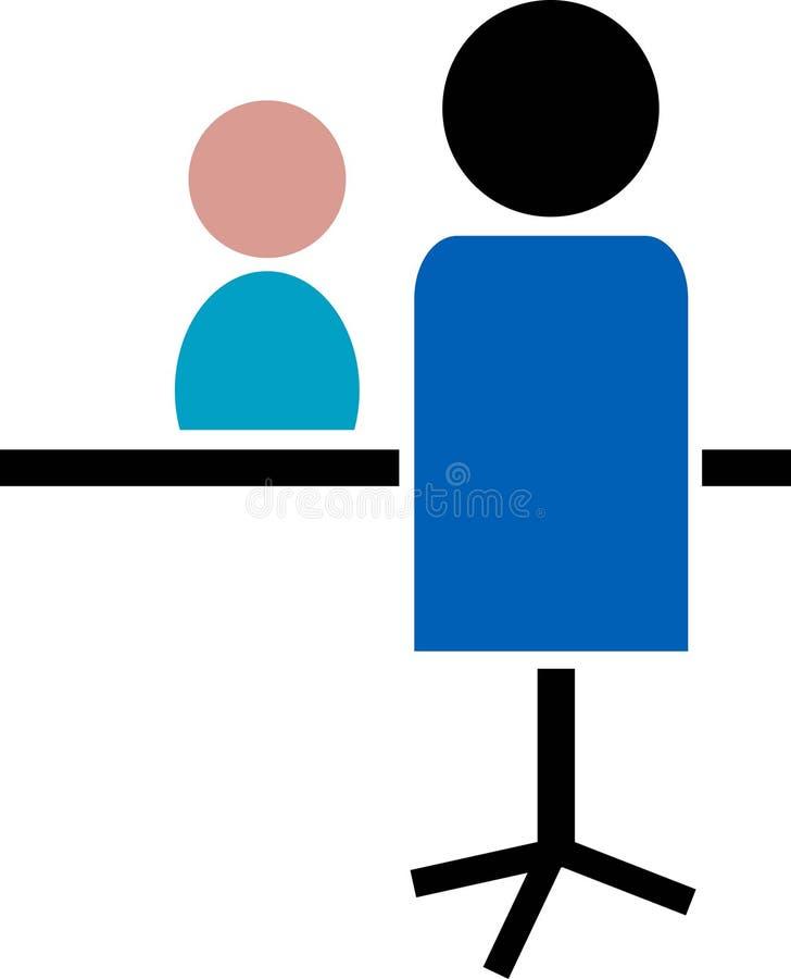 Entrevue illustration stock