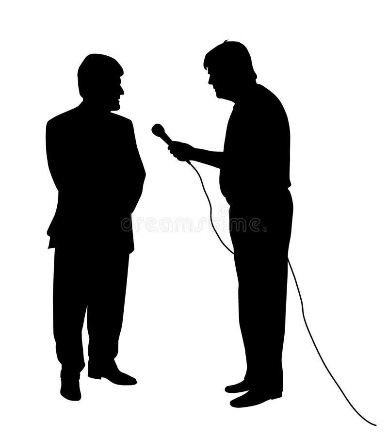 Entrevue illustration de vecteur