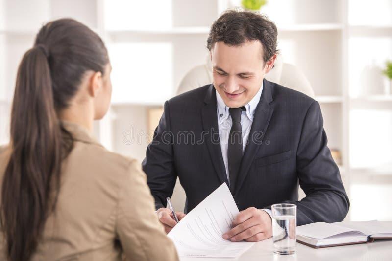 entrevue photos stock