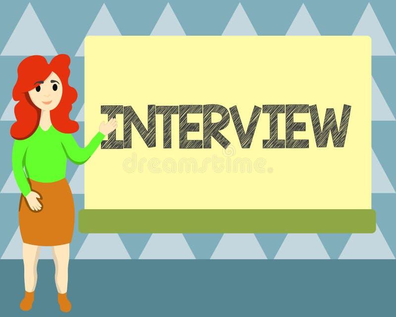 Entrevue d'écriture des textes d'écriture Réunion de signification de concept de la représentation face à face particulièrement p illustration libre de droits