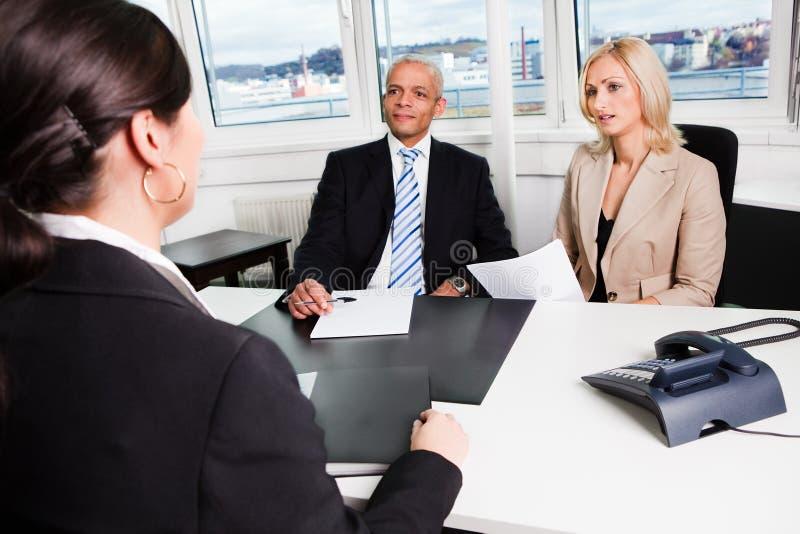 Entrevue d'affaires image libre de droits