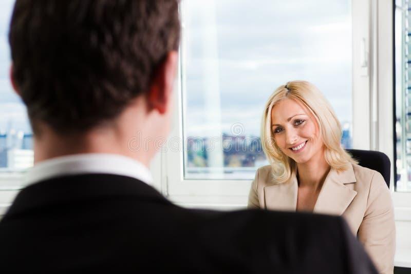 Entrevue d'affaires photos stock