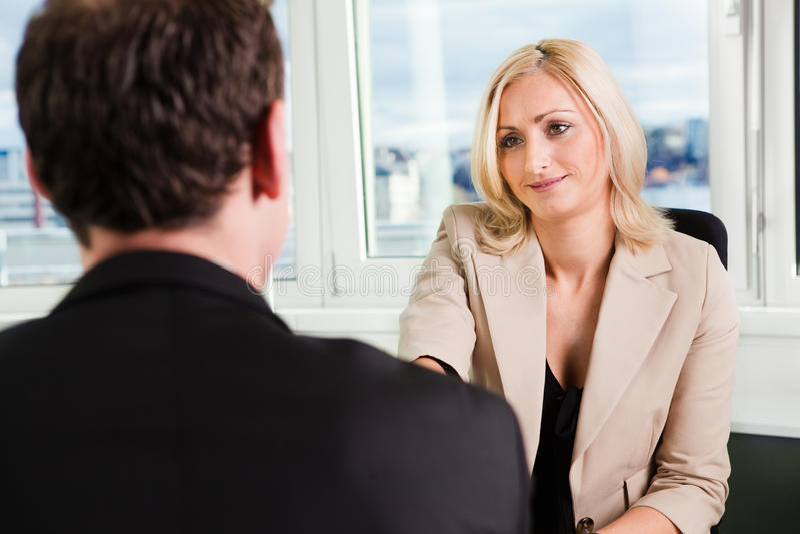 Entrevue d'affaires photo libre de droits